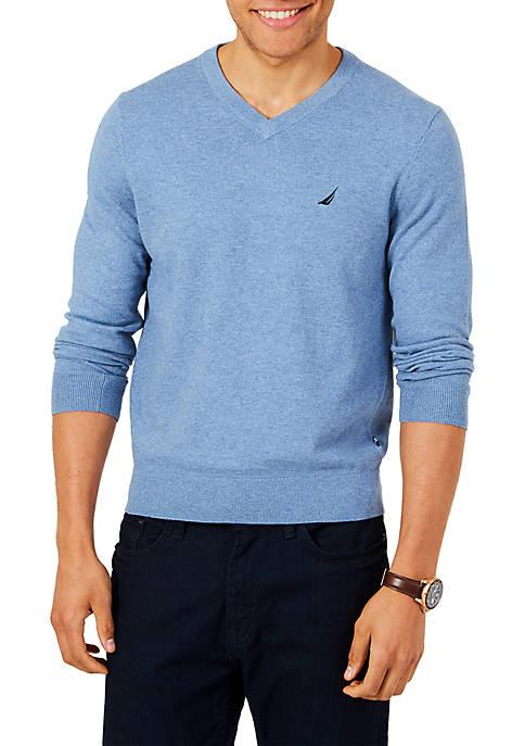 Nautica Jersey Navtech V-Neck Sweater