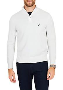 Half-Zip Mock-Neck Sweater