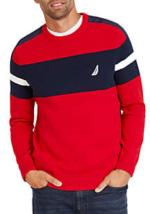 Challenger Crew Neck Stripe Sweater