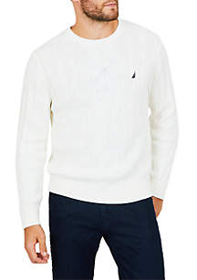 Crew Neck Cable Sweater