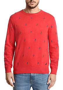 Nautica Maritime Embroidered Crew Neck Sweater