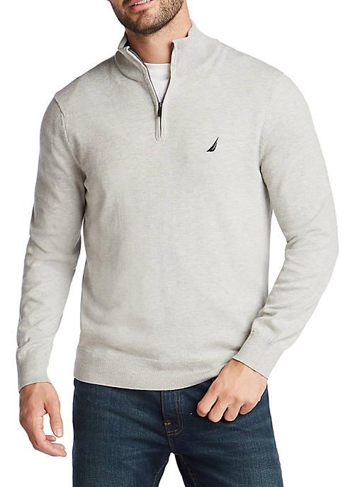 Nautica Mens Navtech Quarter Zip Sweater