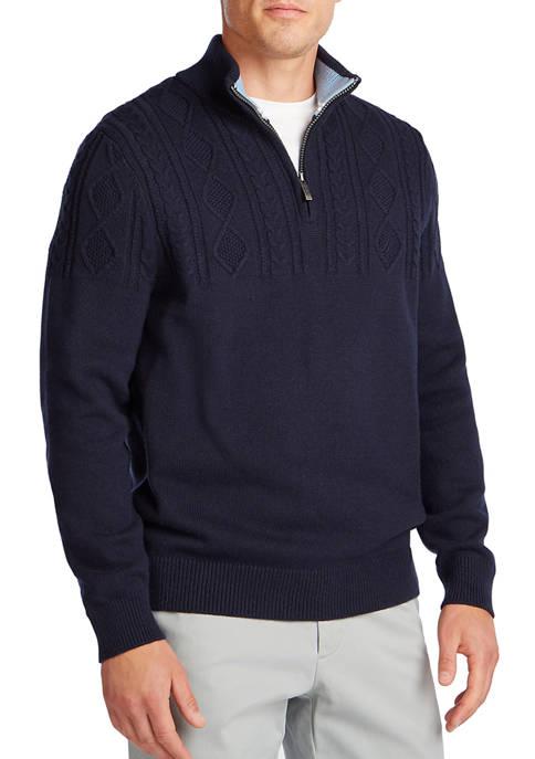 Nautica Mens Classic Fit Quarter Zip Sweater
