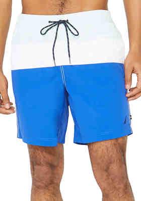 Nautical Navy Anchor Stripe Mens Guys Surfing Shorts Summer Personalized Beach Shorts Swim