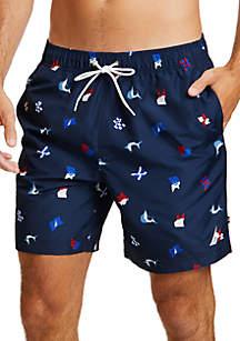 Sail Flag Icon Swim Shorts