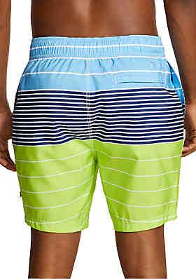 70cf81c0aa ... Nautica Variegated Stripe Half-Elastic Swim Shorts