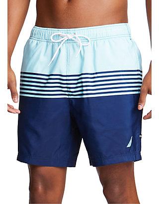 030a87361e Nautica Classic Striped Full-Elastic Swim Trunks | belk