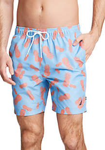 5624244c52d58 ... Nautica Pineapple Print Swim Trunks