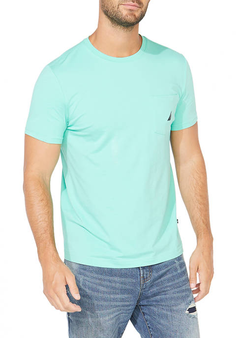 Nautica Short Sleeve Pocket Crew Neck T-Shirt