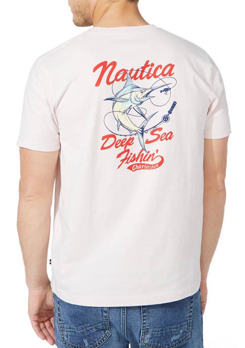 Nautica Deep Sea Fishing Graphic T-Shirt