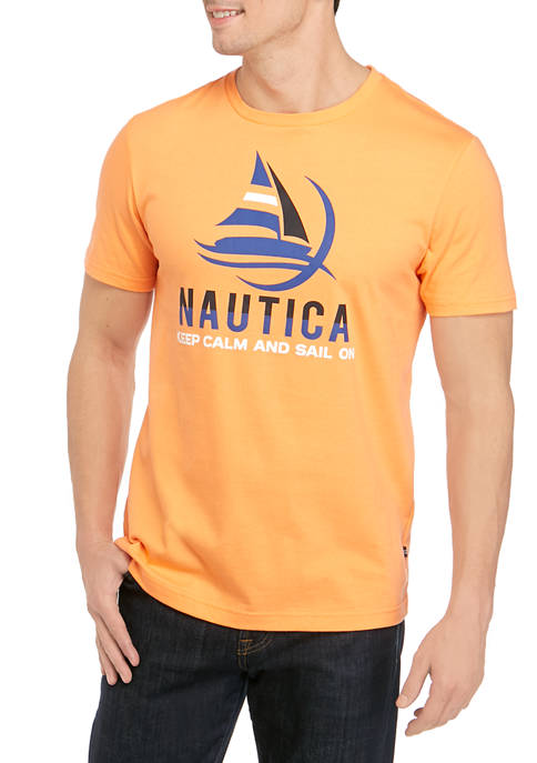 Nautica Short Sleeve Keep Calm Graphic T-Shirt