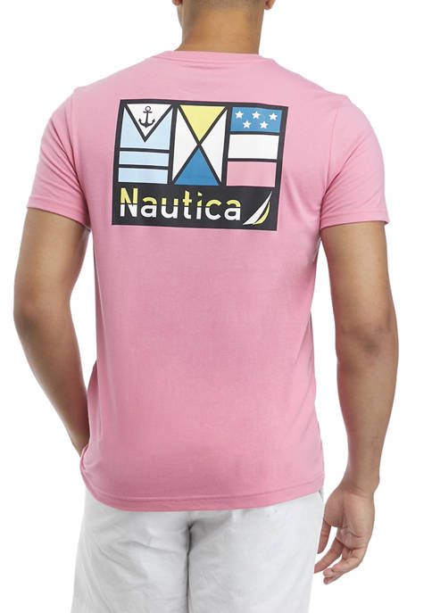 Nautica Short Sleeve Patch Graphic T-Shirt