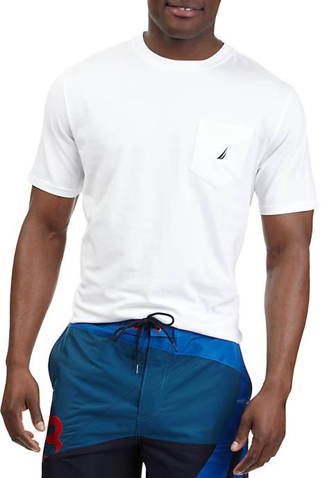 Nautica Short Sleeve Anchor Pocket T- Shirt