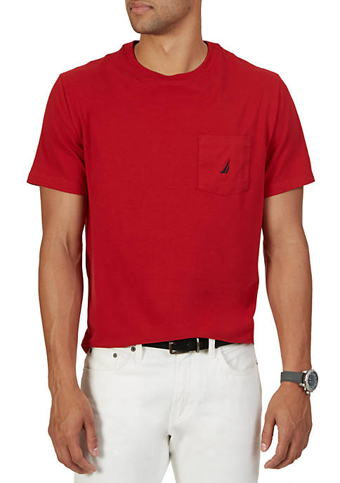 Nautica Short Sleeve Anchor Pocket T- Shirt