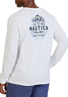 Nautica Work Vessel Graphic Long Sleeve T-Shirt
