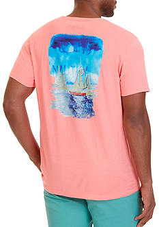 Nautica Water Color Graphic T-Shirt