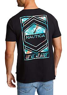 Nautica Tropical Graphic Crew Neck T-Shirt
