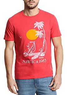 Short Sleeve Vintage Palm Tree T-Shirt