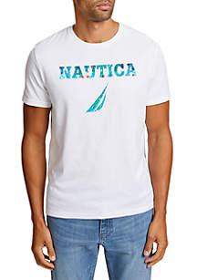 Flower Print Short Sleeve T-Shirt