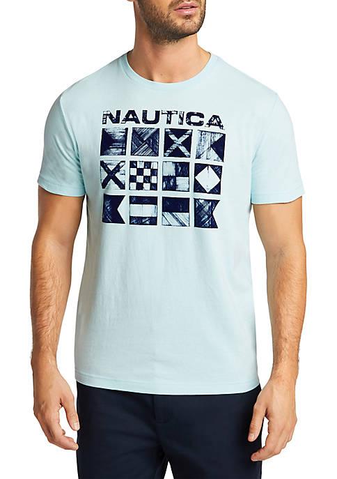 Cross Hatch Flags Short Sleeve T-Shirt