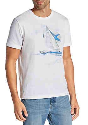 b70cf19dc3f93 Nautica Painted Boat Short Sleeve T-Shirt ...
