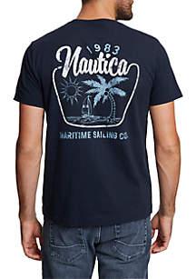 Nautica Maritime Sailing Short Sleeve T-Shirt