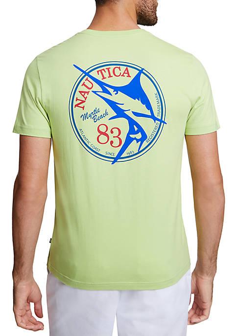 Nautica Fish Myrtle Beach Short Sleeve T-Shirt