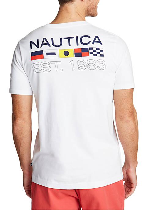 Flags Est. 1983 Short Sleeve T Shirt