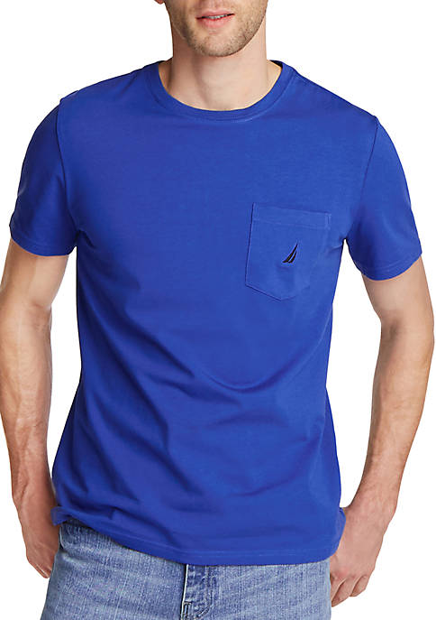 Nautica Short Sleeve Pocket Crew Neck T Shirt