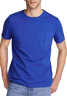 Nautica Short Sleeve Pocket Crew Neck T Shirt