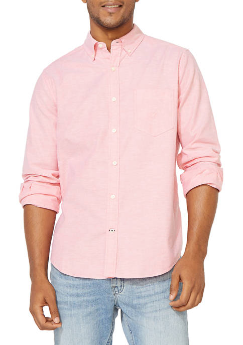 Oxford Solid Button Down Shirt