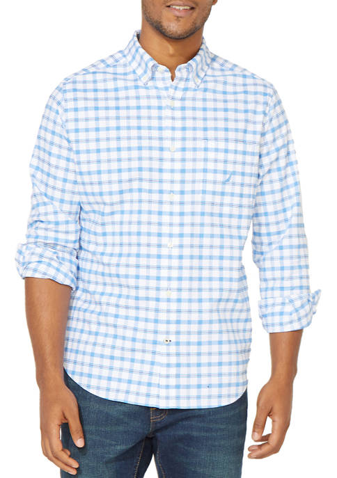 Oxford Plaid Button Down Shirt