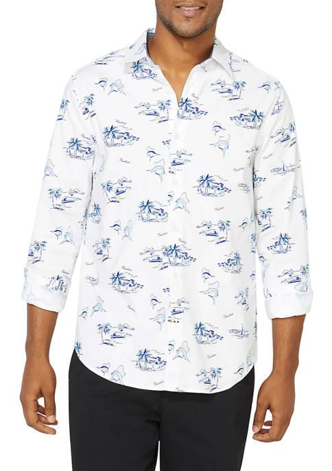 Oxford Printed Button Down Shirt