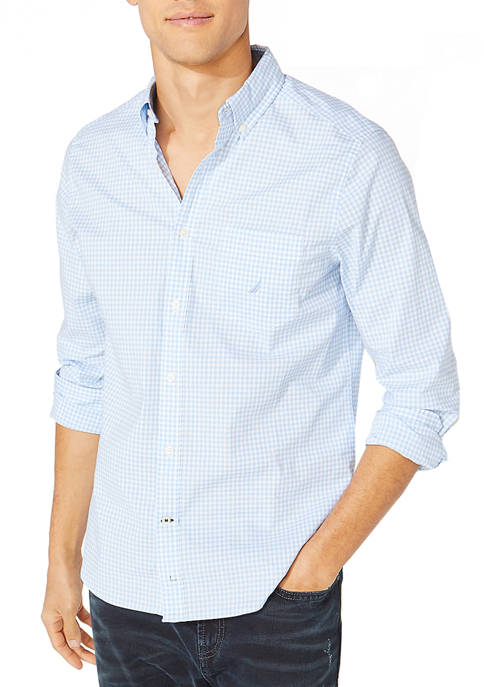 Nautica Oxford Gingham Button Down Shirt