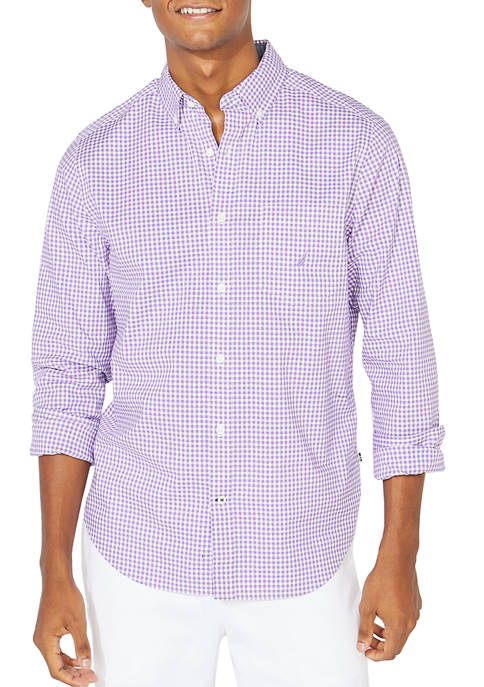 Oxford Gingham Button Down Shirt