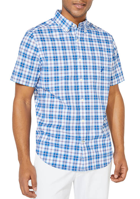 Nautica Classic Fit Plaid Button Down Shirt