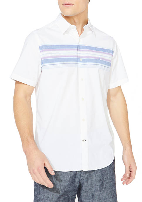 Classic Fit Engineered Stripe Button Down Shirt