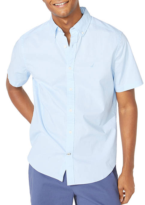 Nautica Navtech Solid Button Down Shirt