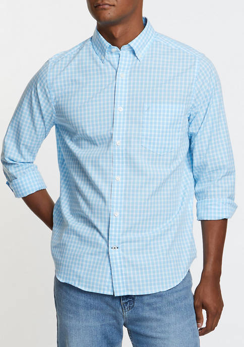 Classic Fit Gingham Long Sleeve Oxford Shirt