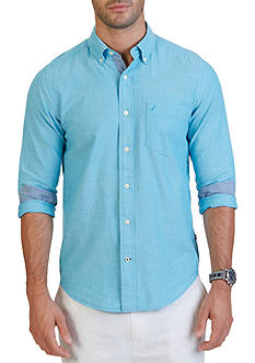 Nautica Classic Fit Solid Oxford Shirt