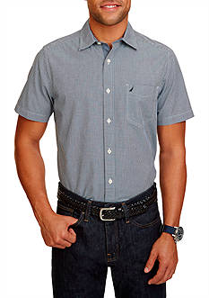 Nautica Classic Fit Maritime Short Sleeve Shirt