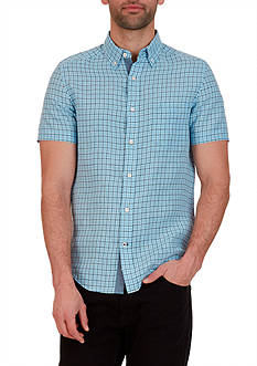 Nautica Classic Fit Linen Short Sleeve Shirt