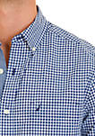 Classic Fit Gingham Stretch Cotton Shirt