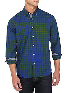 Classic Fit Plaid Stretch Cotton Shirt
