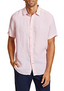 Nautica Short Sleeve Linen Shirt