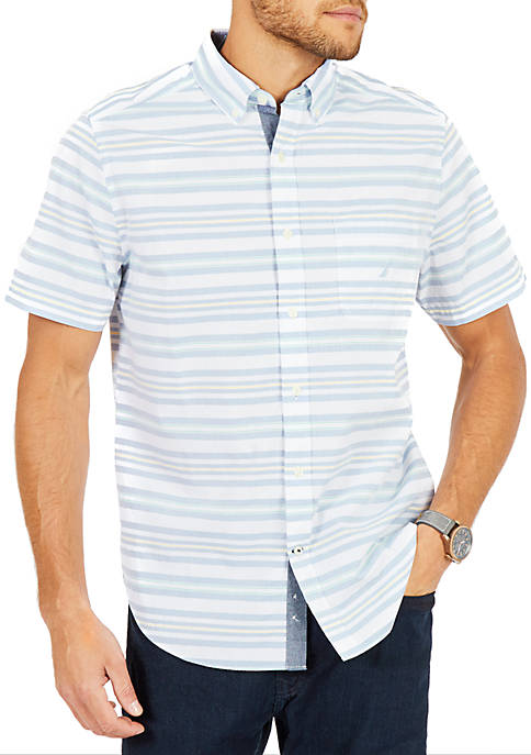 Nautica Classic Fit Riviera Horizontal Stripe Short Sleeve