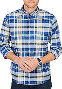 Long Sleeve Large Plaid Poplin Shirt