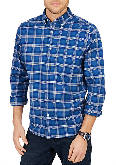 Nautica Classic Fit Long Sleeve Yarn Dyed Oxford