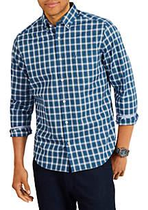 Long Sleeve Classic Fit Plaid Button-Down Shirt