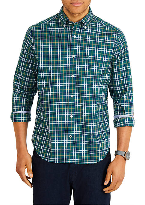 Classic Fit Long Sleeve Yarn Dyed Plaid Button Down